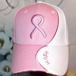 Hope Breast Cancer Hat 3d Embroidered Pink Women's